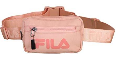 banane rose pour femme de marque Fila avec petite poche avant et grande poche centrale