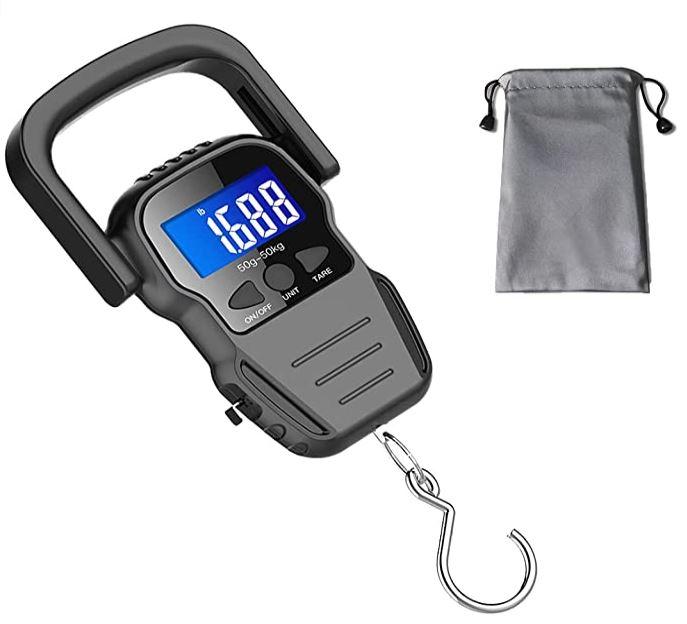 pese bagage electronique avec ecran LCD retro eclaire pour valise de 50 kg et moins