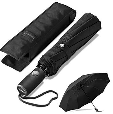 petit parapluie noir pour homme de la marque Wilford and Sons