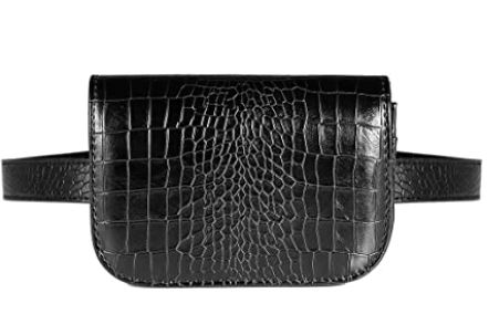 petit sac ceinture banane noir en cuir synthetique Vbiger pour femme