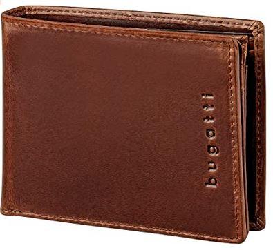 portefeuille en cuir marron pour homme avec protection anti RFID de la marque Bugatti