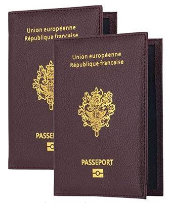 protege passeport type imitation passeport francais de la marque Beifon 2 etuis de protection inclus