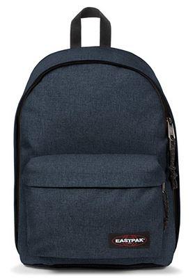 sac a dos Eastpak Out Of Office bleu triple denim avec une capacite de contenance de 27 litres maximum