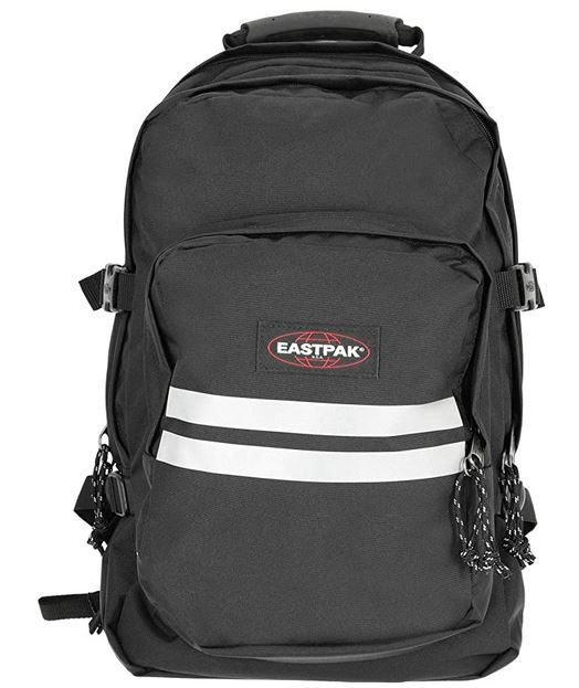 sac a dos Eastpak provider reflective black avec des bandes reflectives pour un maximum de securite