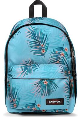 sac a dos Out Of Office Eastpak modele Brize Pool bleur clair avec des motifs de feuilles et fleurs