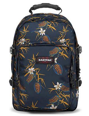 sac a dos provider de la marque Eastpak version Brize Midnight bleu avec motifs a fleurs et feuilles