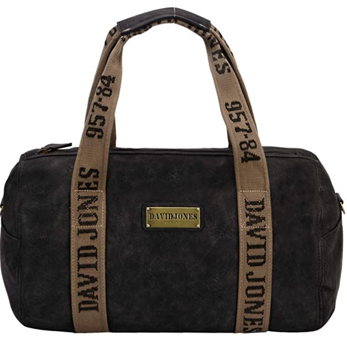 sac de voyage homme de type polochon de la marque David Jones