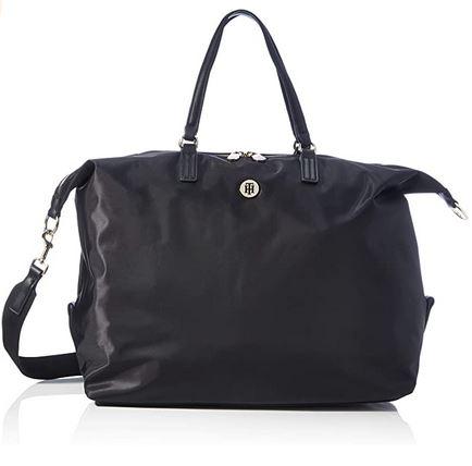 sac de week end feminin de la marque Tommy Hilfiger de couleur noir