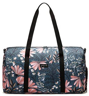 sac de week end pas cher pour femme au design floral avec rangement pour chaussures