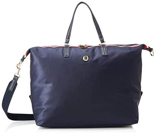 sac de weekend bleu pour femme de la marque Tommy Hilfiger fabrique en polyester