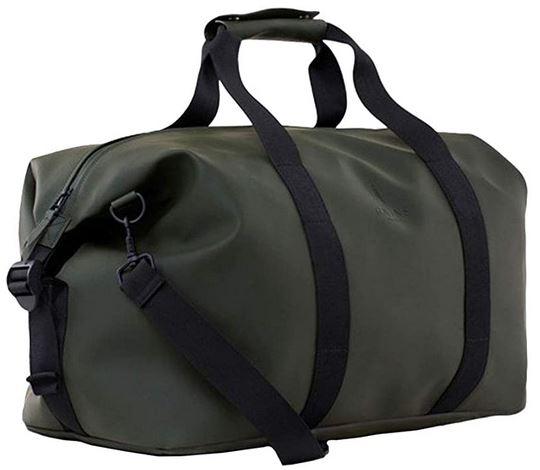 sac de weekend impermeable vert kaki de la marque Rains