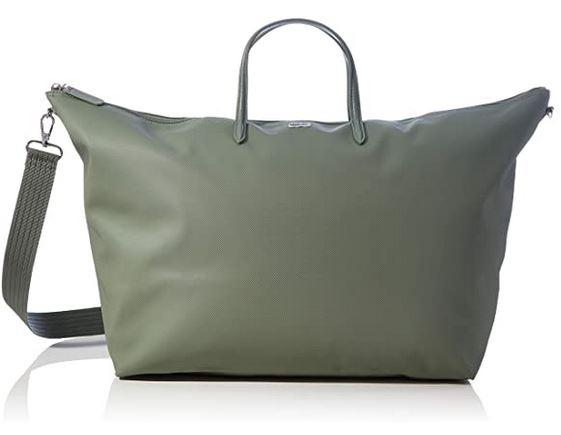 sac pour partir en week end pour femme de la marque Lacoste et de couleur vert kaki militaire modele L1212 Concept