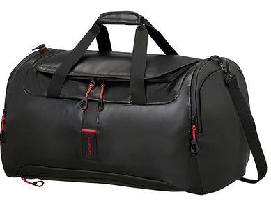 sac pour voyager au design masculin de la marque Samsonite modele Paradiver Light Duffle noir et rouge