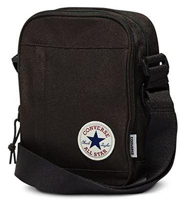 sacoche bandouliere noire Converse Allstars pour homme dimensions de 22cm et capacite de 5 litres
