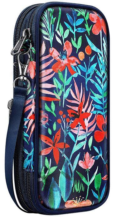 trousse multicolore pour fille extensible a grande capacite au design floral