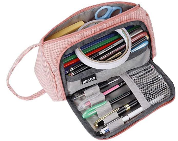 trousse scolaire multifonction pour fille avec de nombreux compartiments pour une grande capacite de stockage de crayon