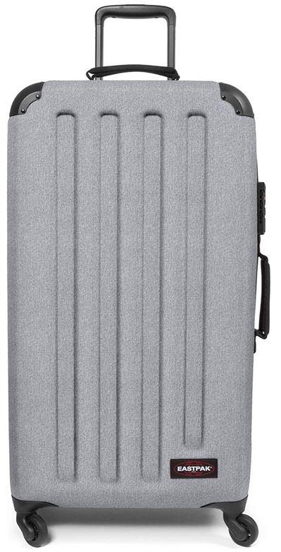 valise grise Transzshell L a la fois rigide et souple de la marque Eastpak capacite maximum de 75 litres