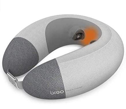 Breo coussin de voyage massant avec chaleur haut de gamme ideal pour tout type de transport modele iNeck air2
