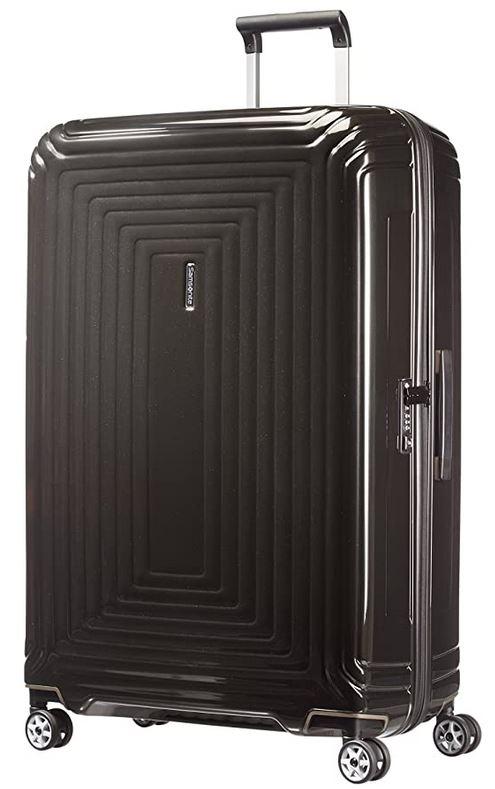 grande valise Samsonite Neopulse Spinner XL noir metallique avec capacite totale de 124 litres