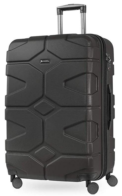 grande valise rigide extensible Hauptstadtkoffer X kolln noire en graphite avec 4 roues solides et une capacite totale de 120 litres