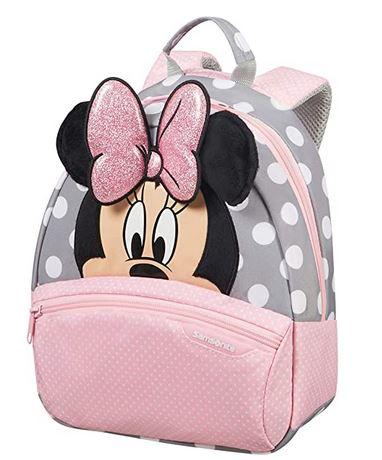 sac a dos Disney Minie Mouse du fabricant Samsonite en rose et gris