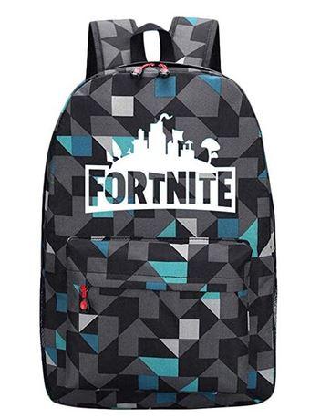 sac a dos Fortnite gris pour garcon pouvant faire office de cartable pour le primaire et le college