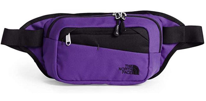 sac banane masculin de couleur violet marque The North Face modele Bozer Hip Pack 2