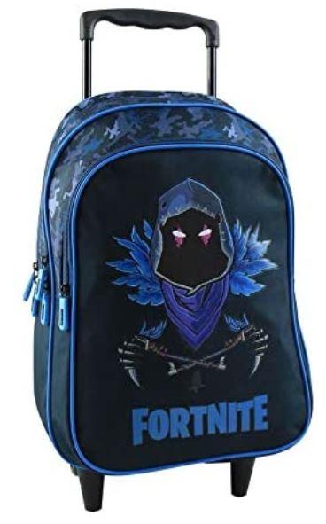sac cartable a roulette fortnite bleu et noir pour garcon et fille