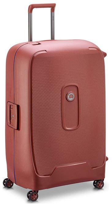 valise grande et solide a coque rigide de couleur Terracotta de Delsey Paris modele Moncey de 82cm