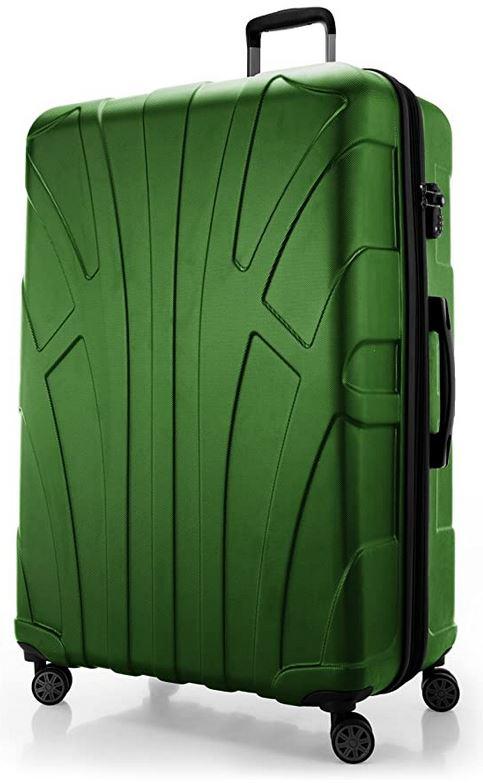 valise rigide verte avec tres grande capacite de 160 litres maximum du fabricant Suitline