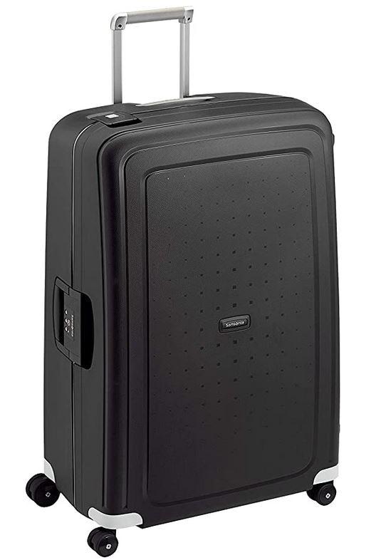 valise taille XL de couleur noir de la marque Samsonite modele Scure Spinner pouvantn 138 litres